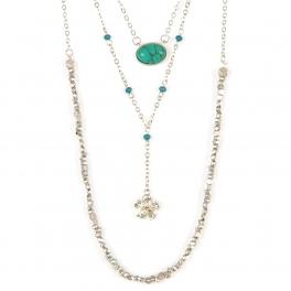 Wholesale M12D TQ beads drop necklace SB fashionunic