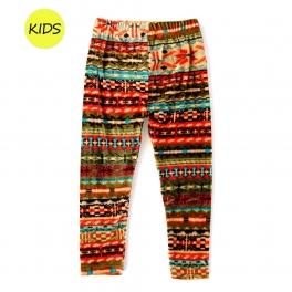 Wholesale WA00 Tribal print velour kids leggings
