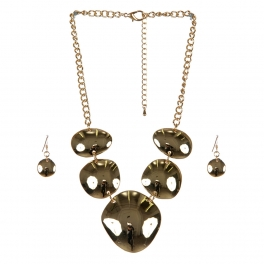 wholesale Metal circles necklace set G fashionunic