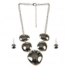 wholesale Metal circles necklace set RH fashionunic