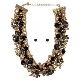 Wholesale Cluttered stone necklace set GDBKD