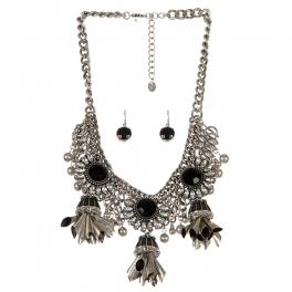 Wholesale Multi stone statement necklace set SBBKCL