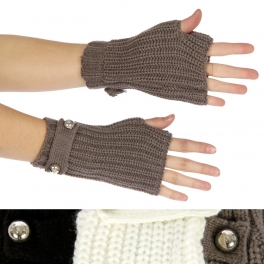 wholesale Ribbed knit fingerless gloves Dozen