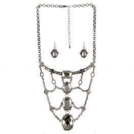wholesale Choker style bib necklace set SB