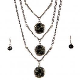 wholesale Layered stone long necklace set RBK