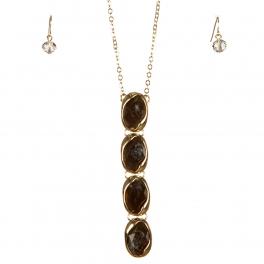 wholesale Stones drop long necklace set GGY