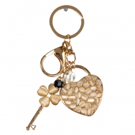 wholesale Lock and key with stones keychain