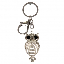 wholesale Silver studded owl keychain fashionunic