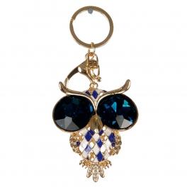 wholesale Blue stone eyed owl keychain fashionunic