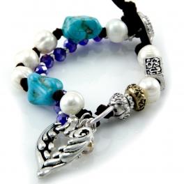 wholesale Faux pearls and wings bracelet TTB