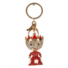wholesale Studded crowned boy keychain GD fashionunic