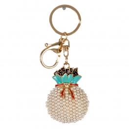 wholesale Faux pearls gift bag keychain fashionunic