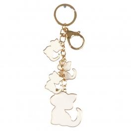 wholesale Metal dangling kittens keychain fashionunic