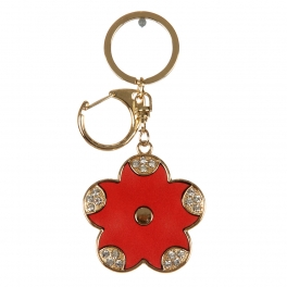 wholesale Studded petal tip flower keychain fashionunic