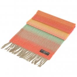 wholesale Chevron ombre cashmere feel scarf Coral