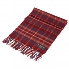 wholesale Plaid cashmere feel scarf Burgundy