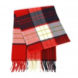 wholesale O70 Two tone plaid cashmere feel scarf 92601