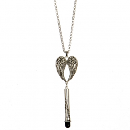 wholesale Long screen touch tip wings necklace AS