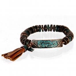 wholesale Metal brave tassel stretch bracelet OG/BN