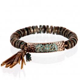 wholesale Metal faith tassel stretch bracelet OG/BN