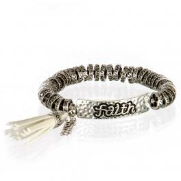 wholesale Metal faith tassel stretch bracelet SB/IV
