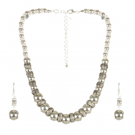 wholesale Metal circle tribal necklace set S fashionunic
