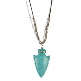 wholesale Stone arrow pendant long necklace RH TQ