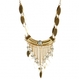 wholesale Metal and marbled dangling necklace set GD WT