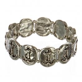 wholesale Metal anchor and hope stretch bracelet RHSB