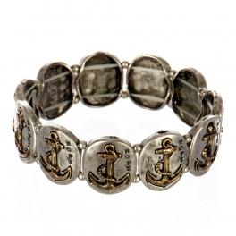 wholesale Metal anchor and hope stretch bracelet SBRG