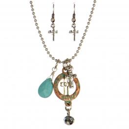 wholesale Faith theme pendant necklace set PTMT fashionunic