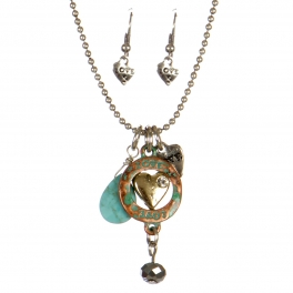 wholesale Love theme pendant necklace set PTMT fashionunic