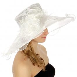 Wholesale BX70 Lace dress hat with flower corsage WH