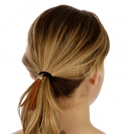 wholesale  Hair tie with suede tassel B fashionunic