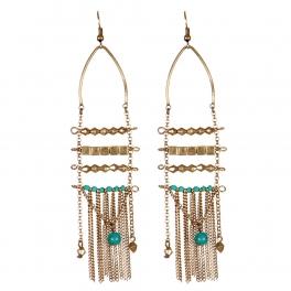 Wholesale L31C Beaded tassel earrings RGB