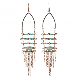 Wholesale L31C Beads and chain tassel earrings OG
