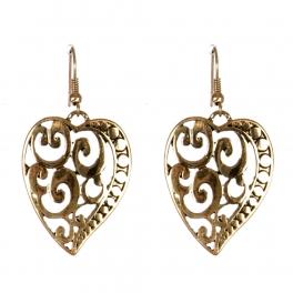 Wholesale L31D Heart drop earrings AG