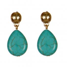 Wholesale M08D Teardrop earrings G Metal