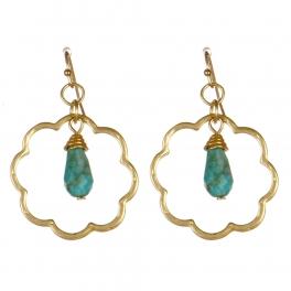 Wholesale M08D Metal flower drop earrings G