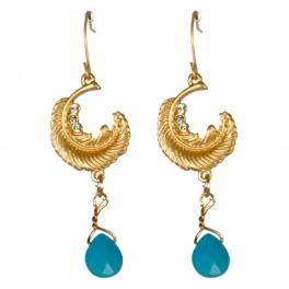 Wholesale M08D Crescent leaf drop earrings G