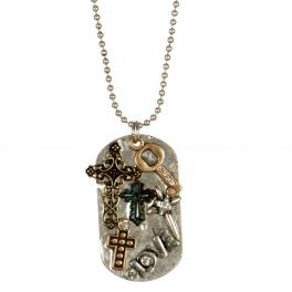 Wholesale L26B Multi cross pendant necklace SB/MT