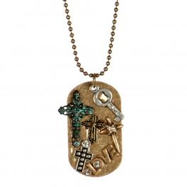 Wholesale L26B Multi cross pendant necklace RGB/MT