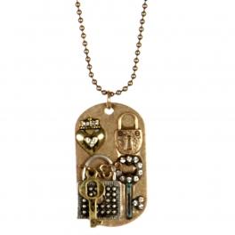 Wholesale L26B Lock pendant necklace RGB/MT