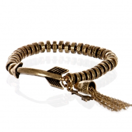 Wholesale L26A Metal arrow with tassel bracelet RGB