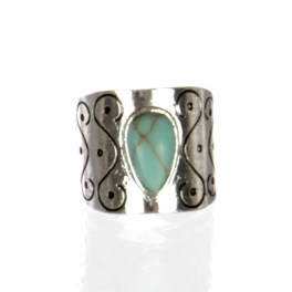 Wholesale L22D Faux jade ring AS