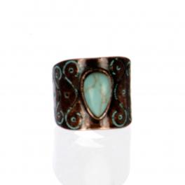 Wholesale L22D Faux jade ring OG