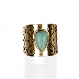 Wholesale L22D Faux jade ring AG