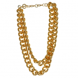 Wholesale L03A Layered chain necklace  GD
