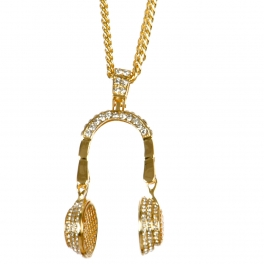 Wholesale L03B Headphone charm necklace GDCLR