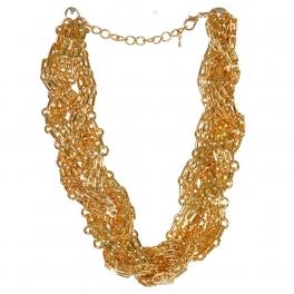 Wholesale L03D Twisted chain necklace GD